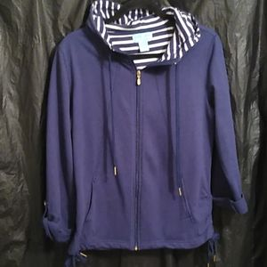 Silverwear navy blue and white hoodie M